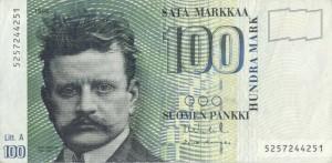 finland-FIM-banknote-100-finnish-markkaa-suomen-pankki-jean-sibelius-1986